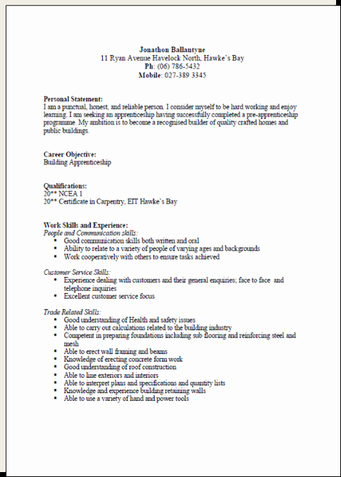 Cv formats and Examples