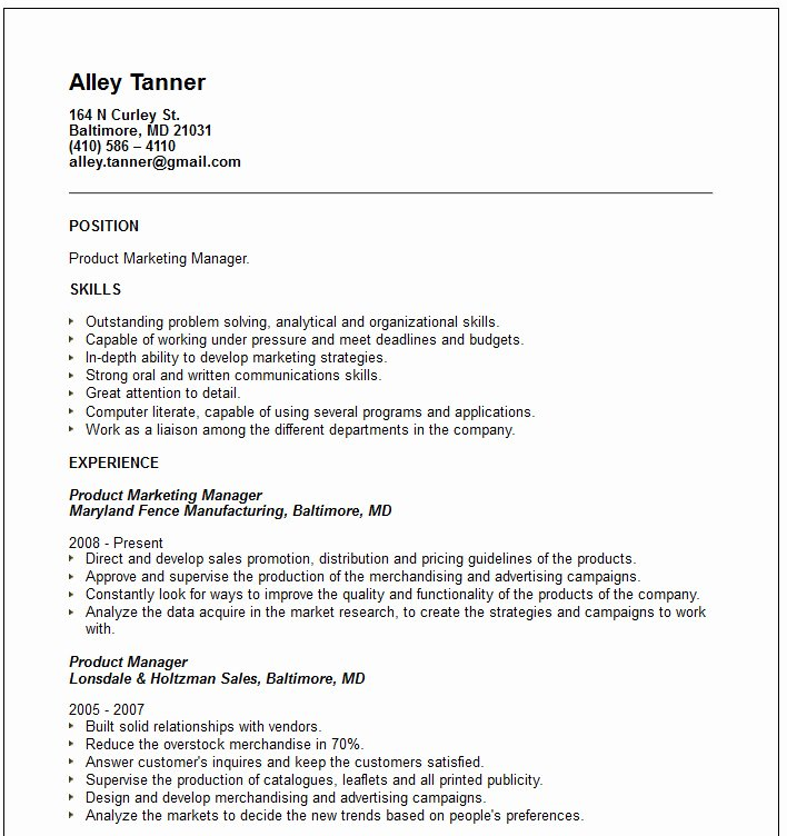 Cv Of A Marketing Professional – Custom Writing at $10