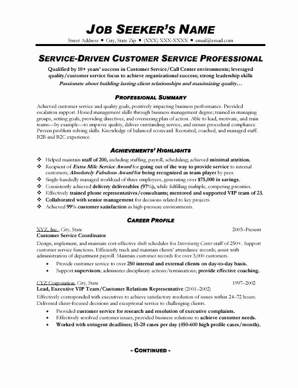 Cv Profile Customer Service Manager Stonewall Services