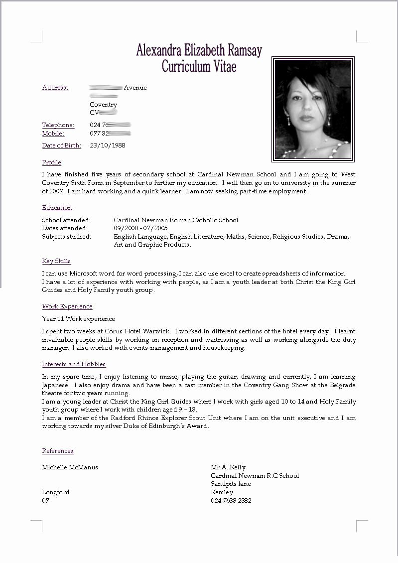 Cv Resume by Akugouhime On Deviantart