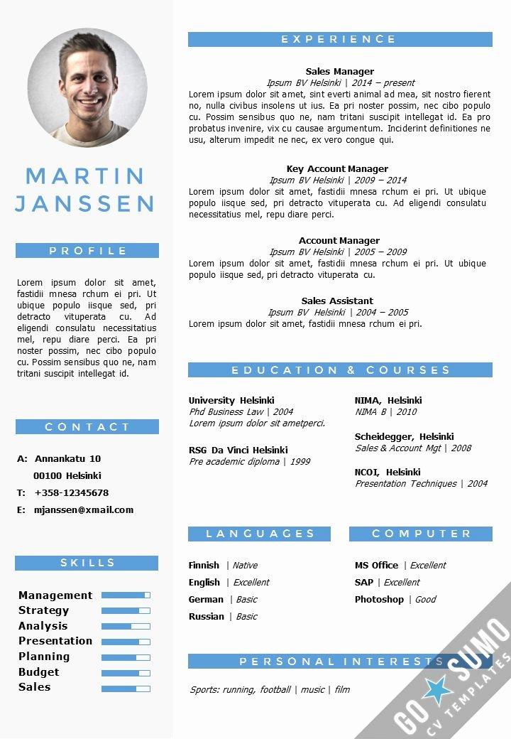Cv Resume Template In Word Fully Editable Files Incl 2nd