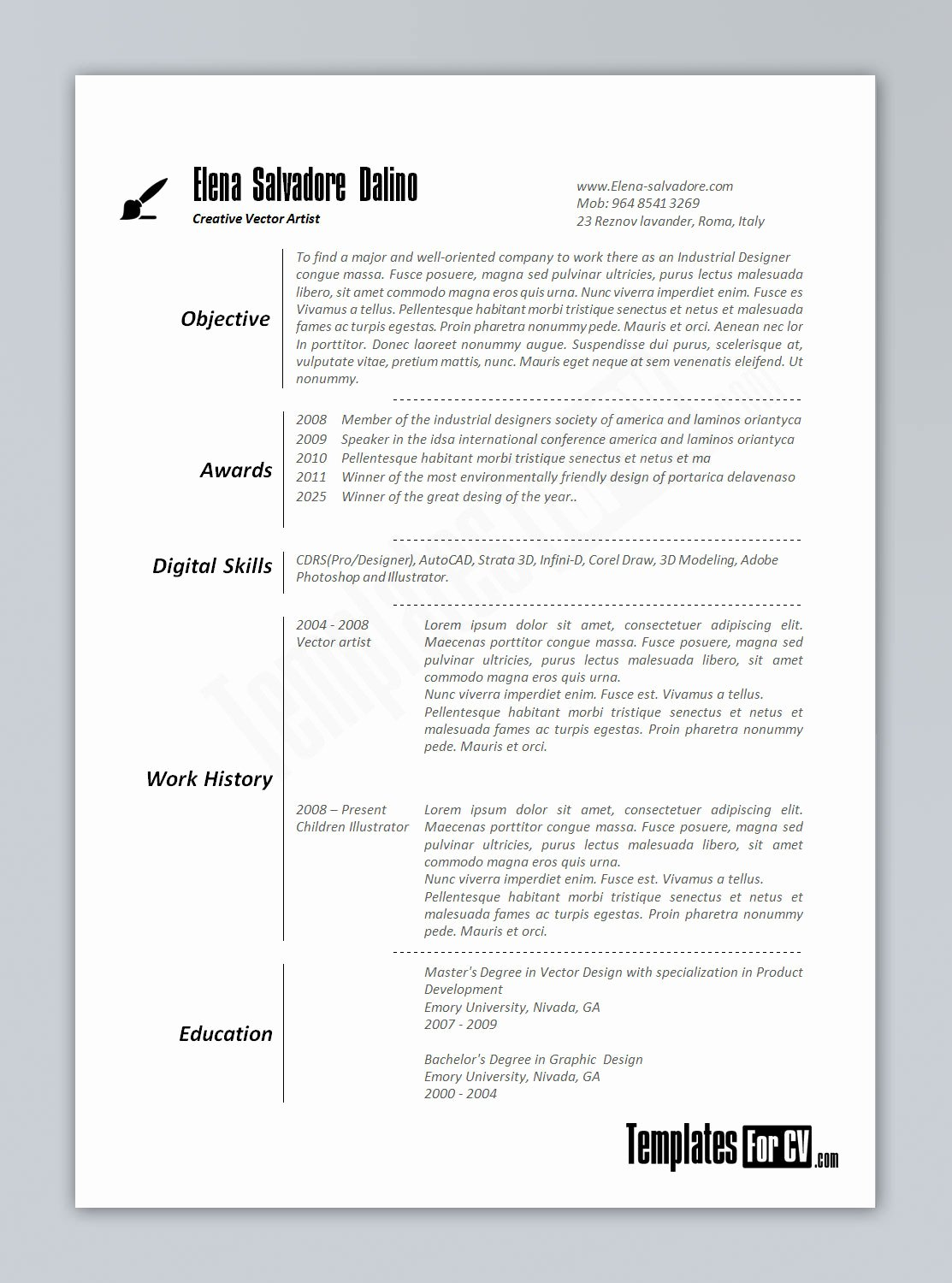 Cv Template Uk Word Doc Templates Resume Examples