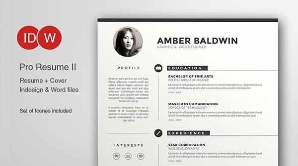 Cv Templates Adobe Illustrator Free Resume Examples Cv