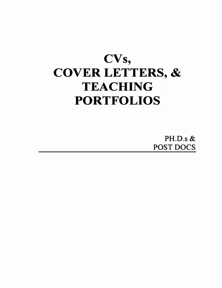 Cvs Cover Letters & Teaching Portfolio Free Download
