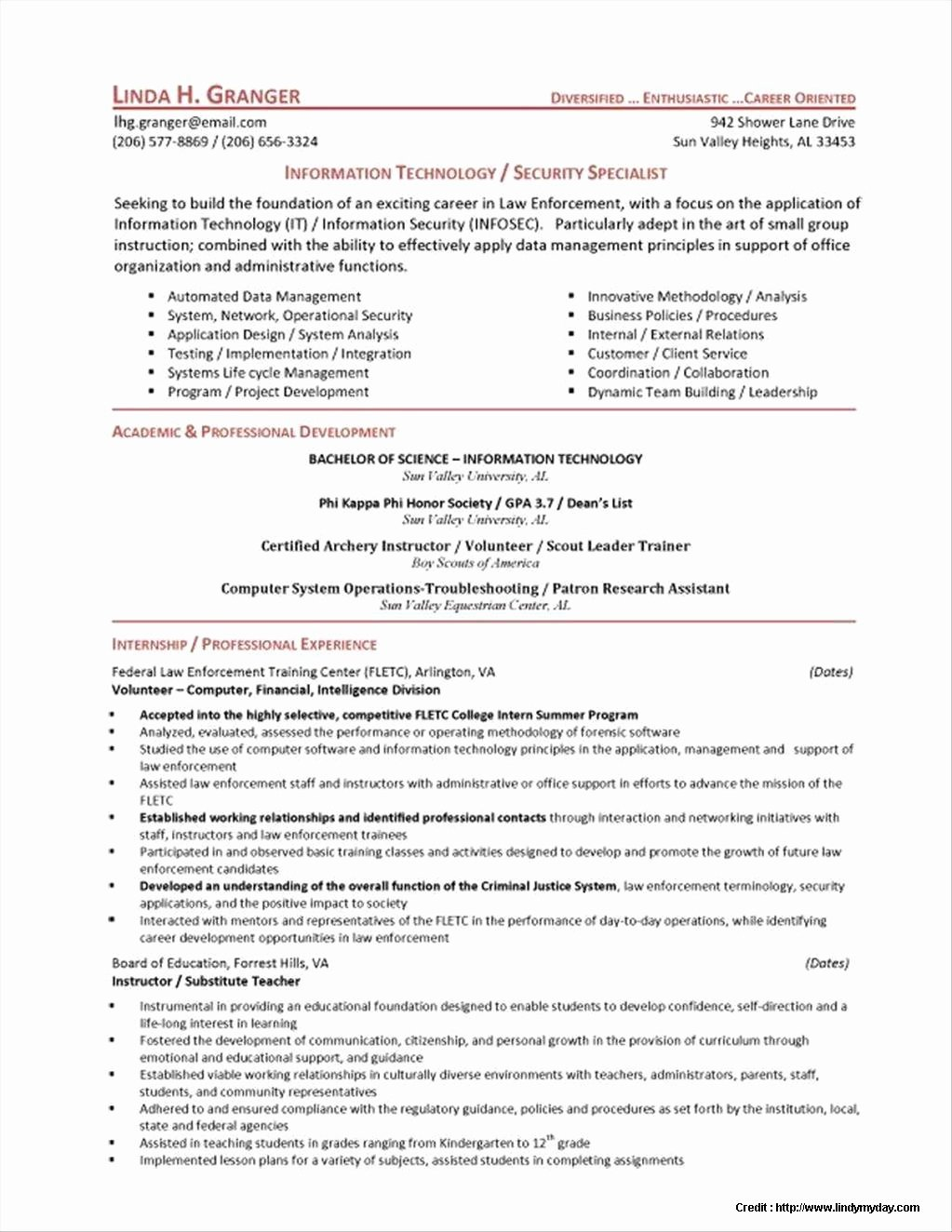 Cyber Security Analyst Resume Sample Resume Resume