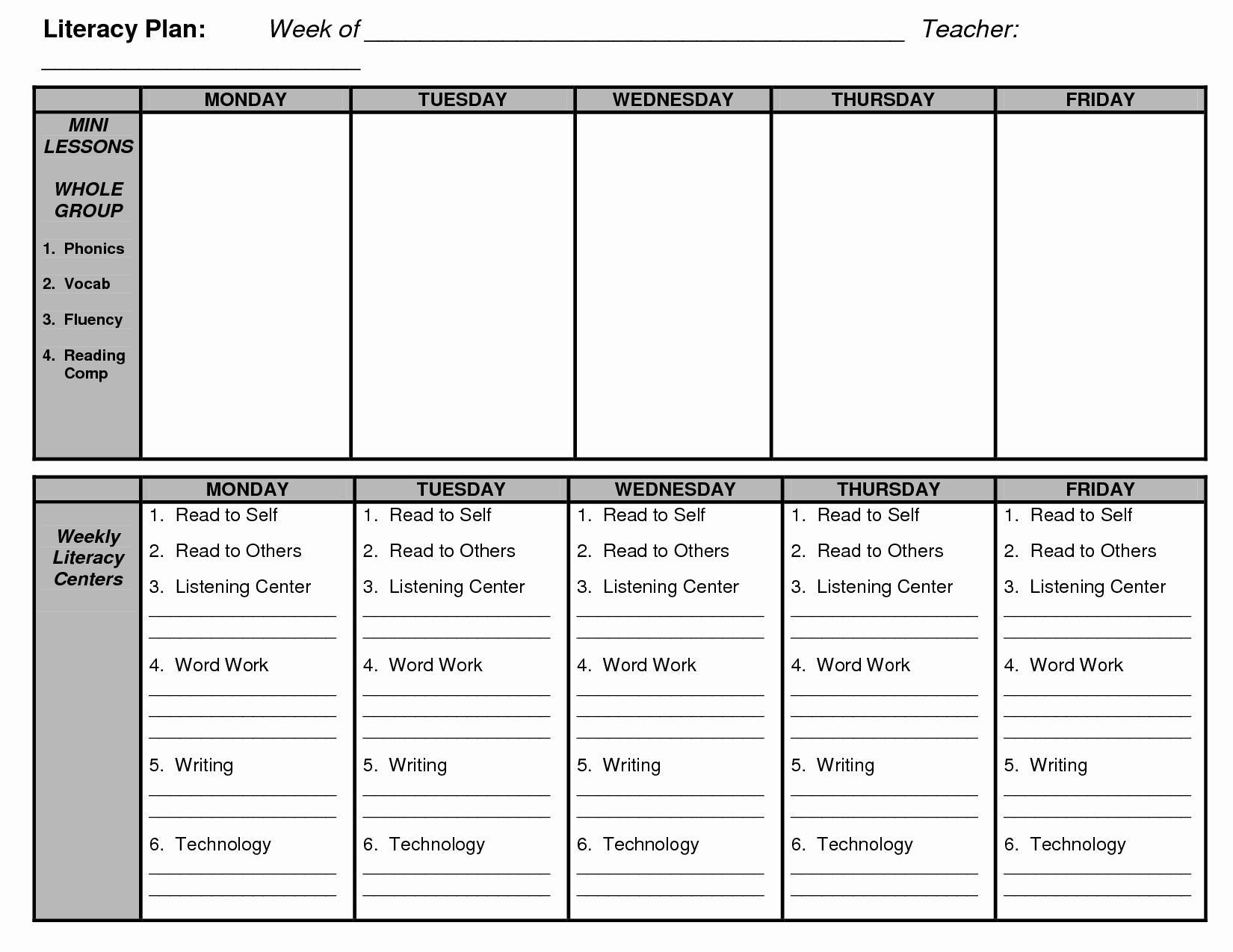 D Reading Lesson Plan Template