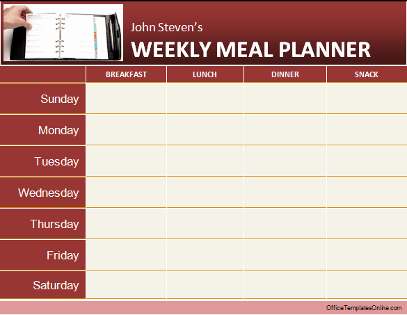 Daily & Weekly Ms Word Planner Templates