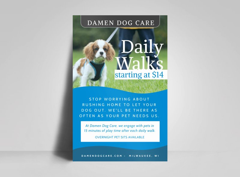 Daily Dog Walking Poster Template