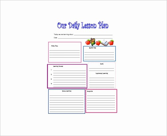 Daily Lesson Plan Template 9 Free Word Excel Pdf