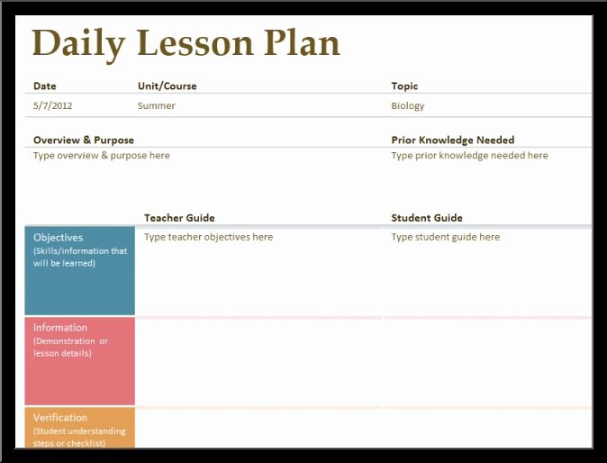 Daily Lesson Plan Templatereference Letters Words