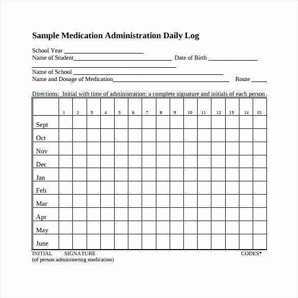 Daily Medication Administration Record Template Drug Sheet