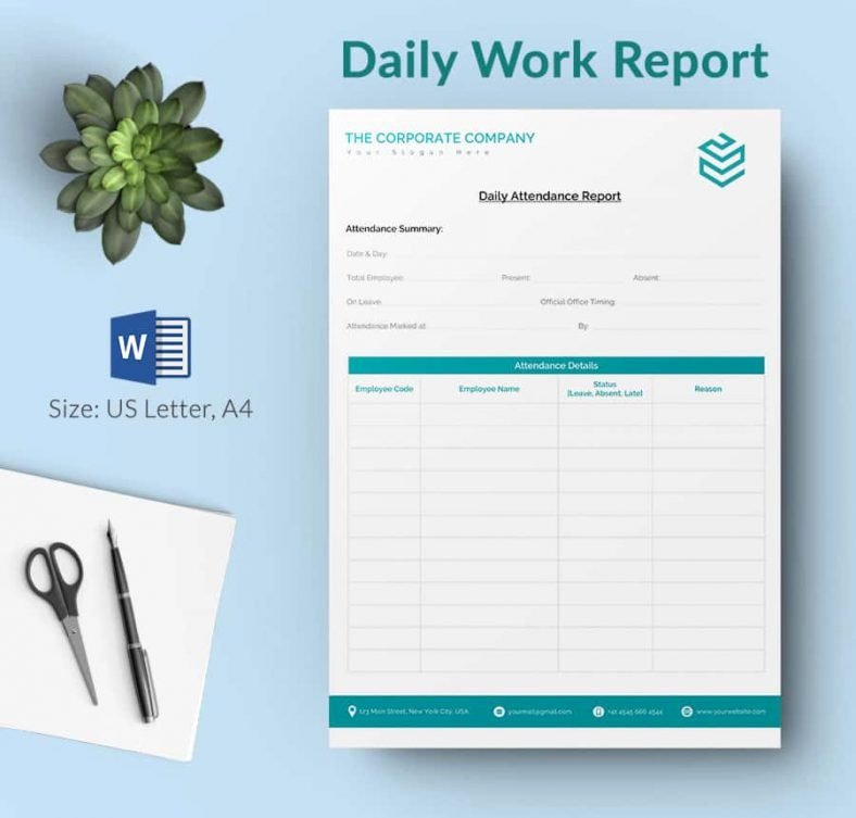 Daily Report Template 62 Free Word Excel Pdf