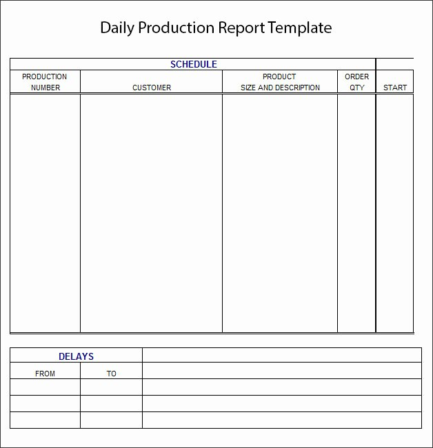 Daily Report Template Daily Report format