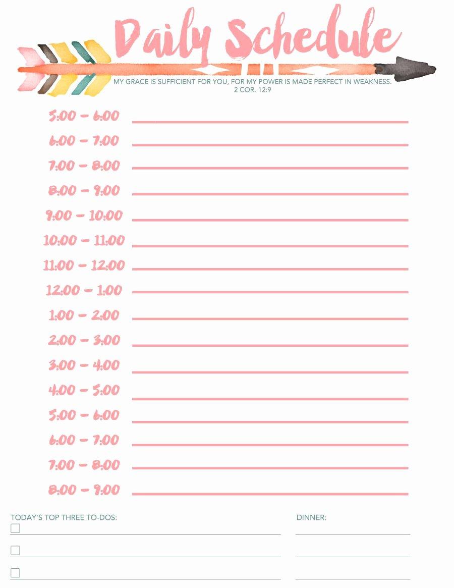 Daily Schedule Free Printable Diy Pinterest