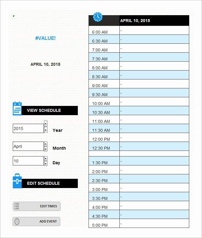 Daily Schedule Template 5 Free Word Excel Pdf