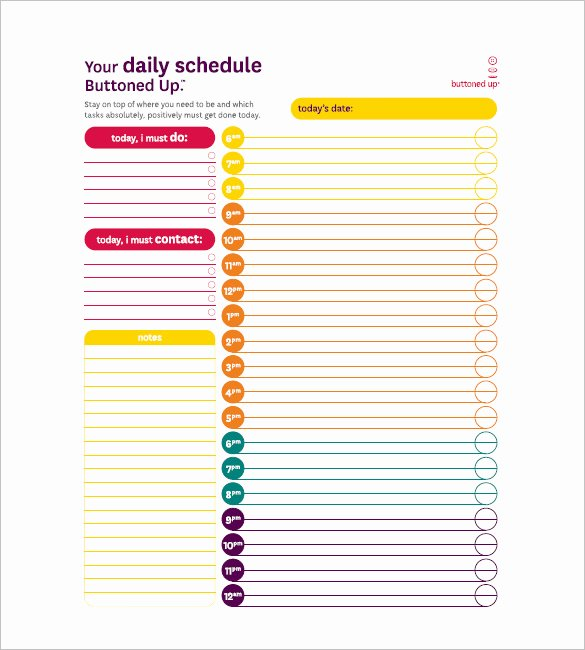 Daily Task List Templates 8 Free Sample Example