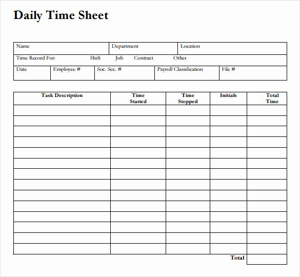 Daily Time Sheet Printable Printable 360 Degree