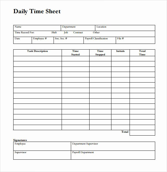 daily timesheet template excel 2003