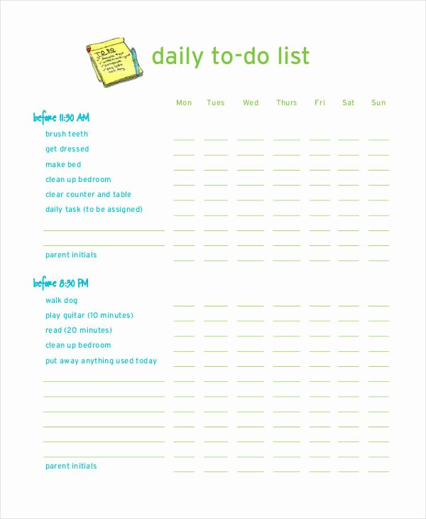 Daily to Do List Template 7 Free Pdf Documents Download