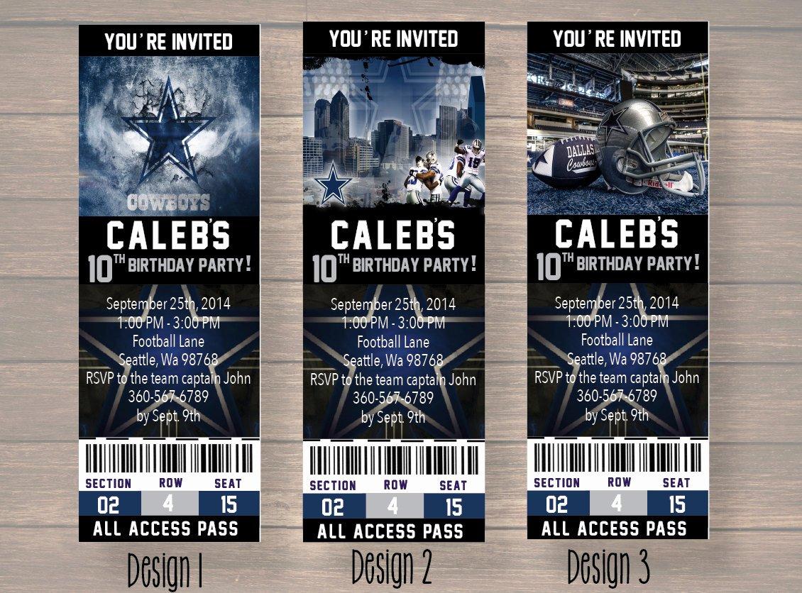 Dallas Cowboy Dallas Cowboy Birthday Invitation Dallas