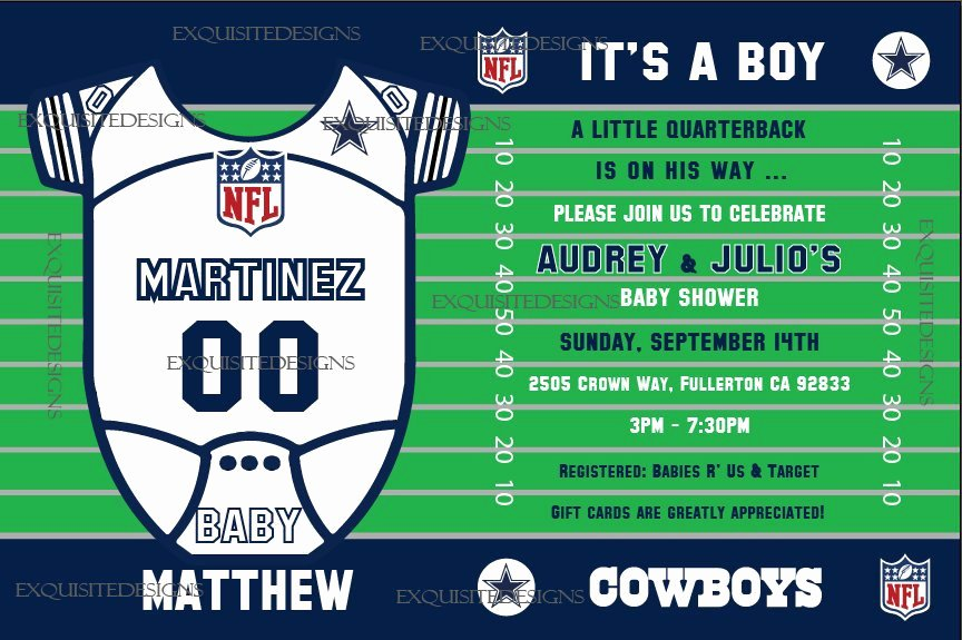 Dallas Cowboys Baby Shower Invitation