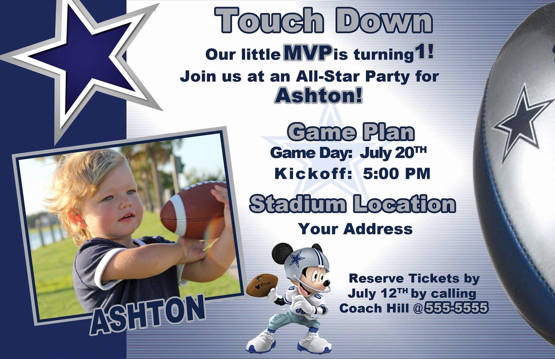 Dallas Cowboys Mickey Mouse Invite
