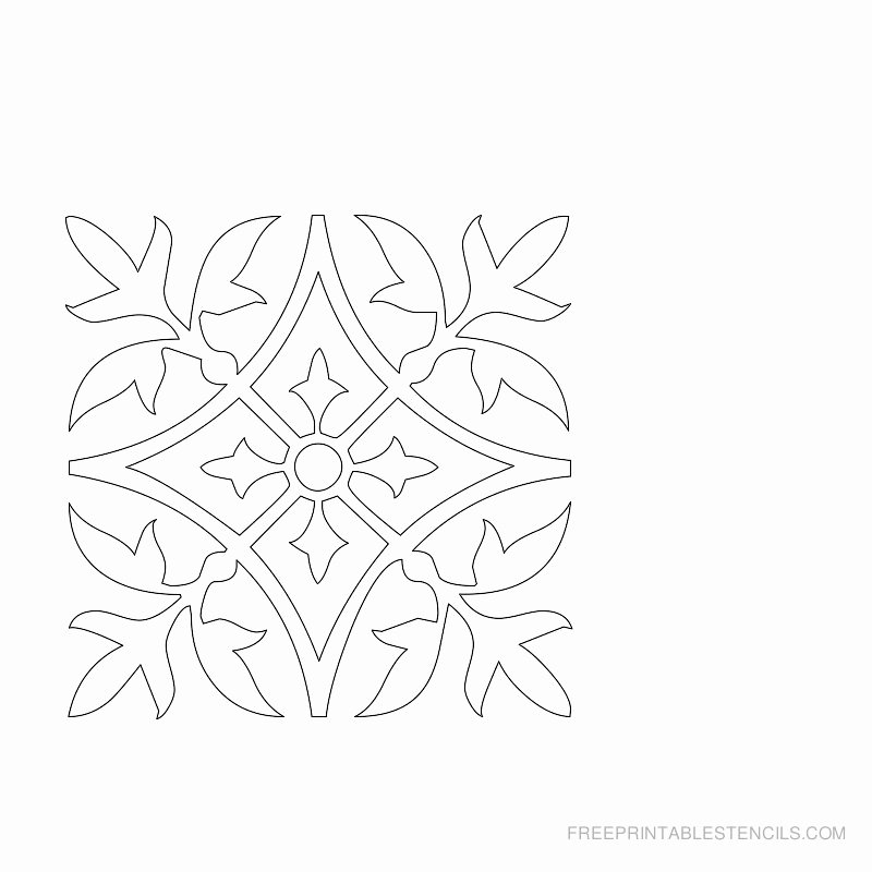 Damask Design Printable Stencils