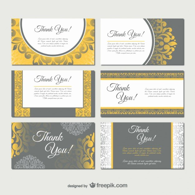 Damask Style Business Card Templates Vector