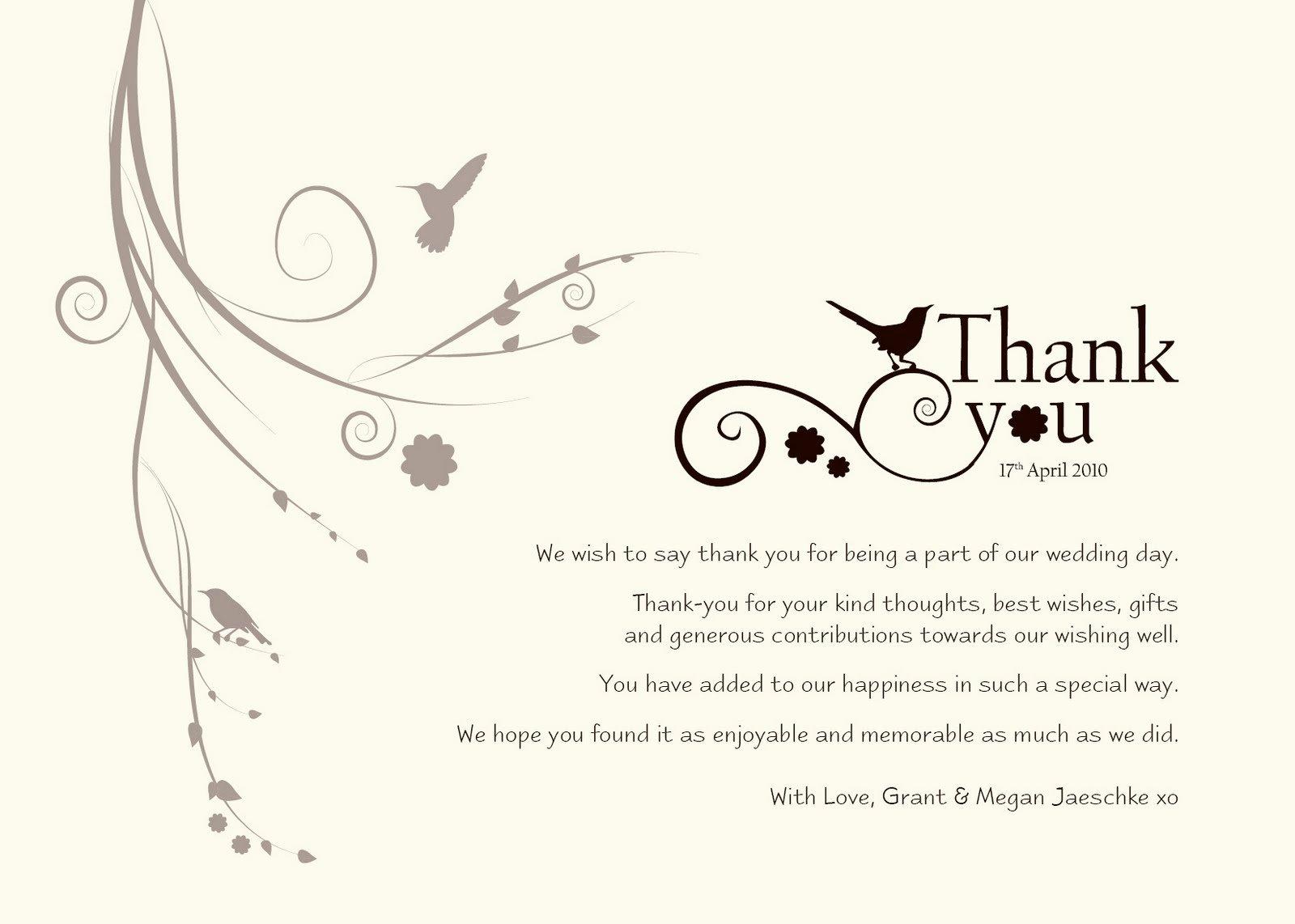 """Damsel Design Wedding """"thank You"""" Cards"""