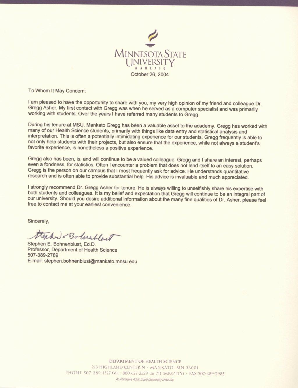 Dandy Letter Support for Professor – Letter format Writing
