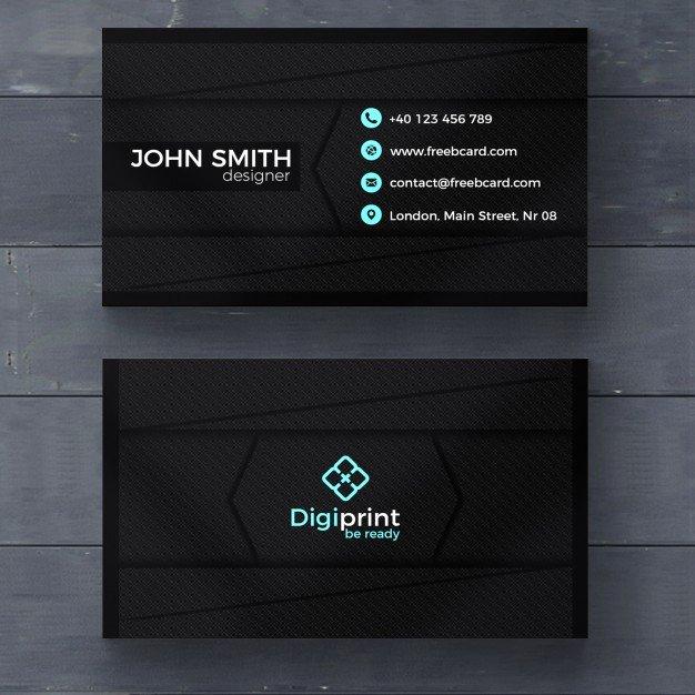 Dark Business Card Template Psd File