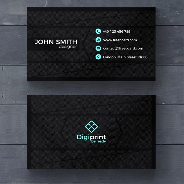 Dark Business Card Template Psd File