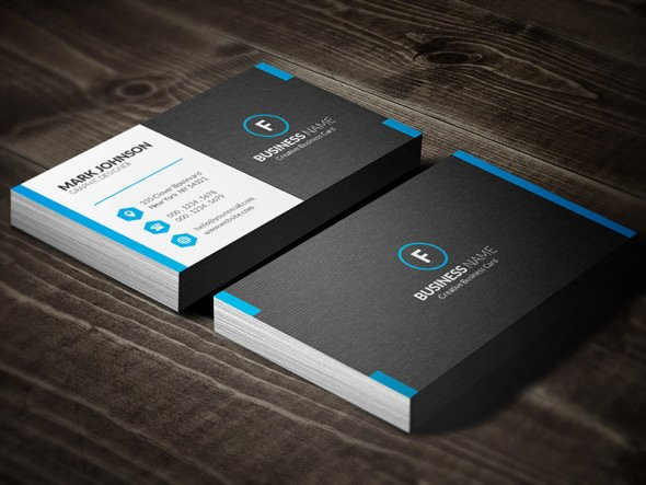 Dark Mosaic Professional Business Card Template Free