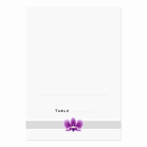 Dark Purple orchid Folded Place Cards Business Card