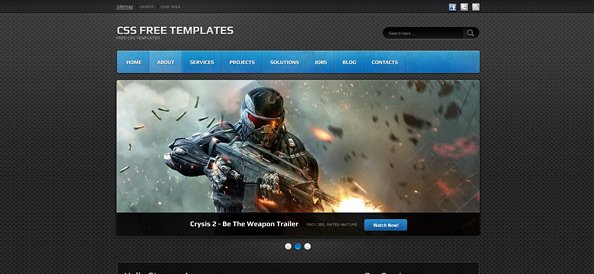 Dark Website Css Template for Portfolios Games and It