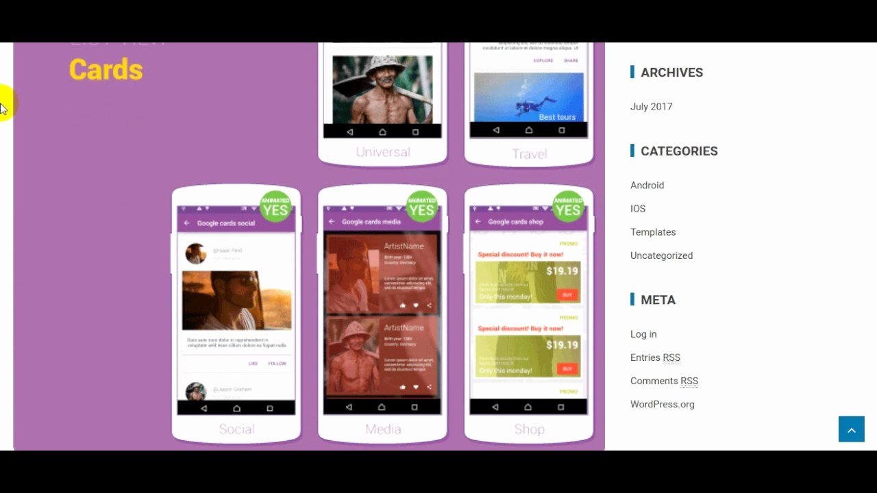 Dashboard android App Template Phones Awesome Websites