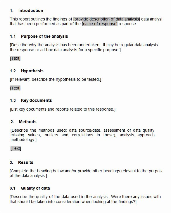 Data Analysis Report Templates – 5 Free Pdf Word
