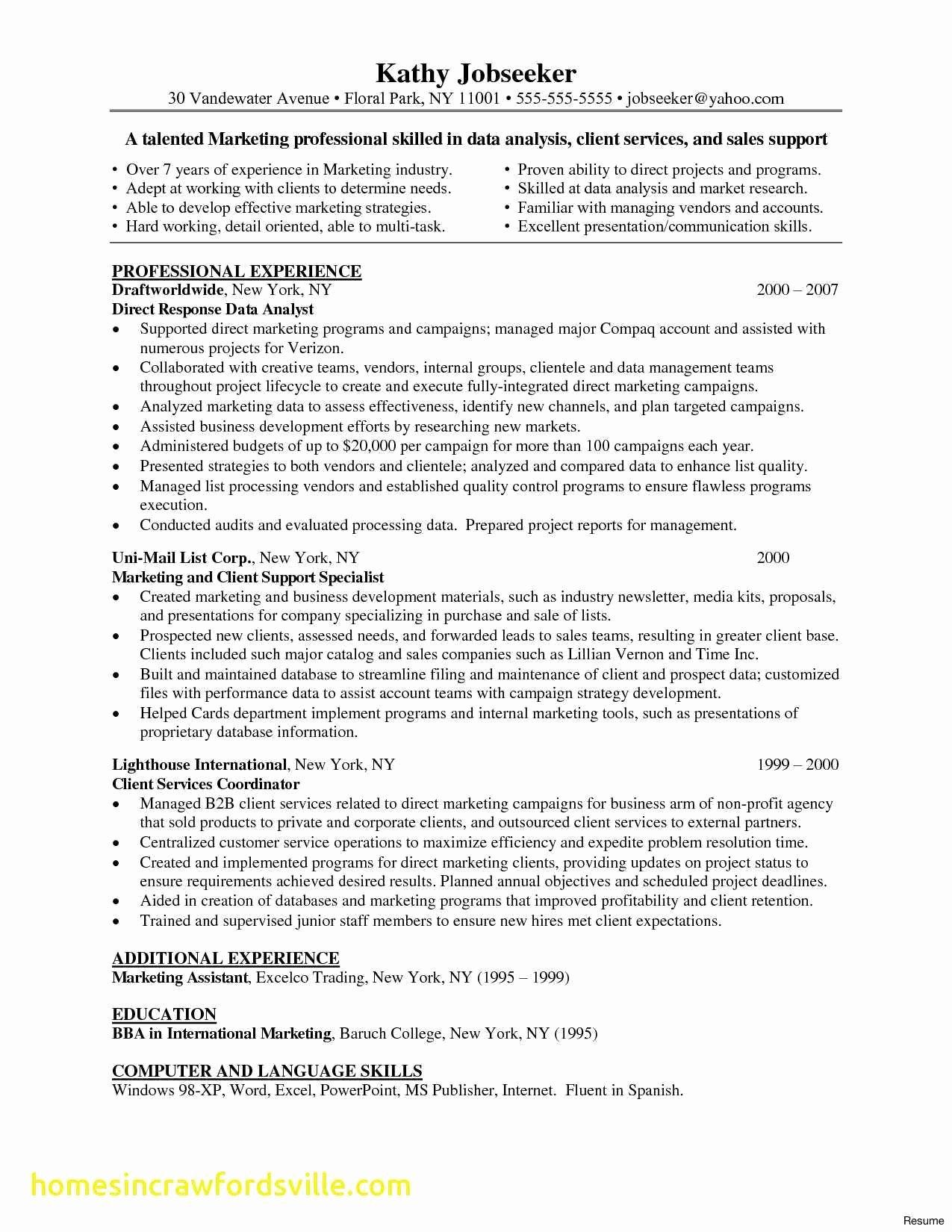 Data Analyst Job Description Resume Popular Fresh Entry