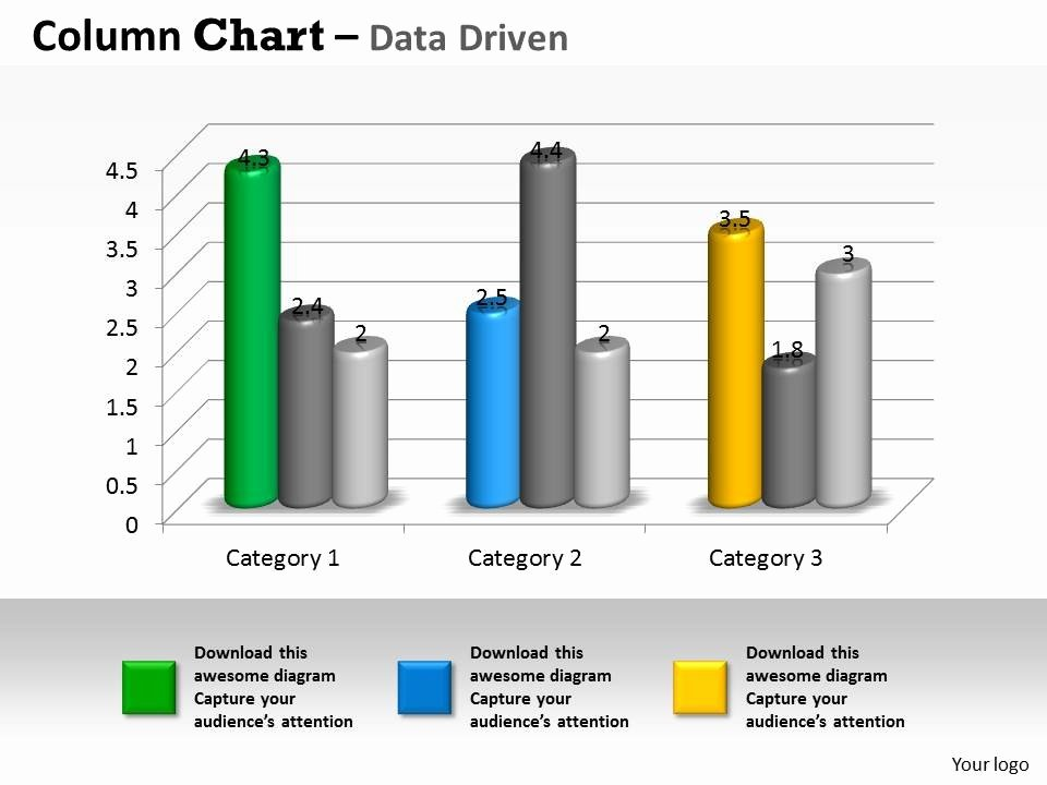 Data Driven 3d Business Trend Series Chart Powerpoint