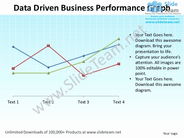 Data Driven Business Performance Graph Powerpoint