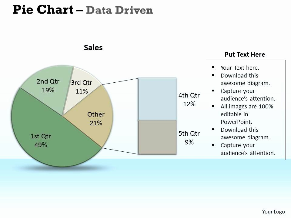 Data Driven Pie Chart Market Research Powerpoint Slides