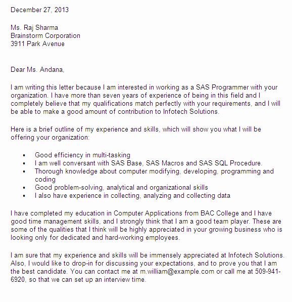 Data Science Internship Cover Letter Cover Letter for Data