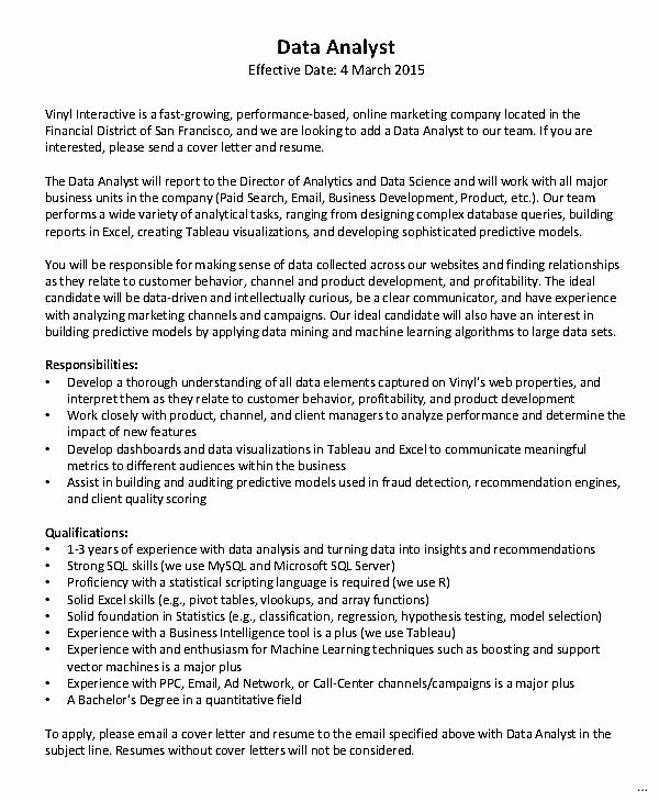 Data Scientist Cover Letter Earpod