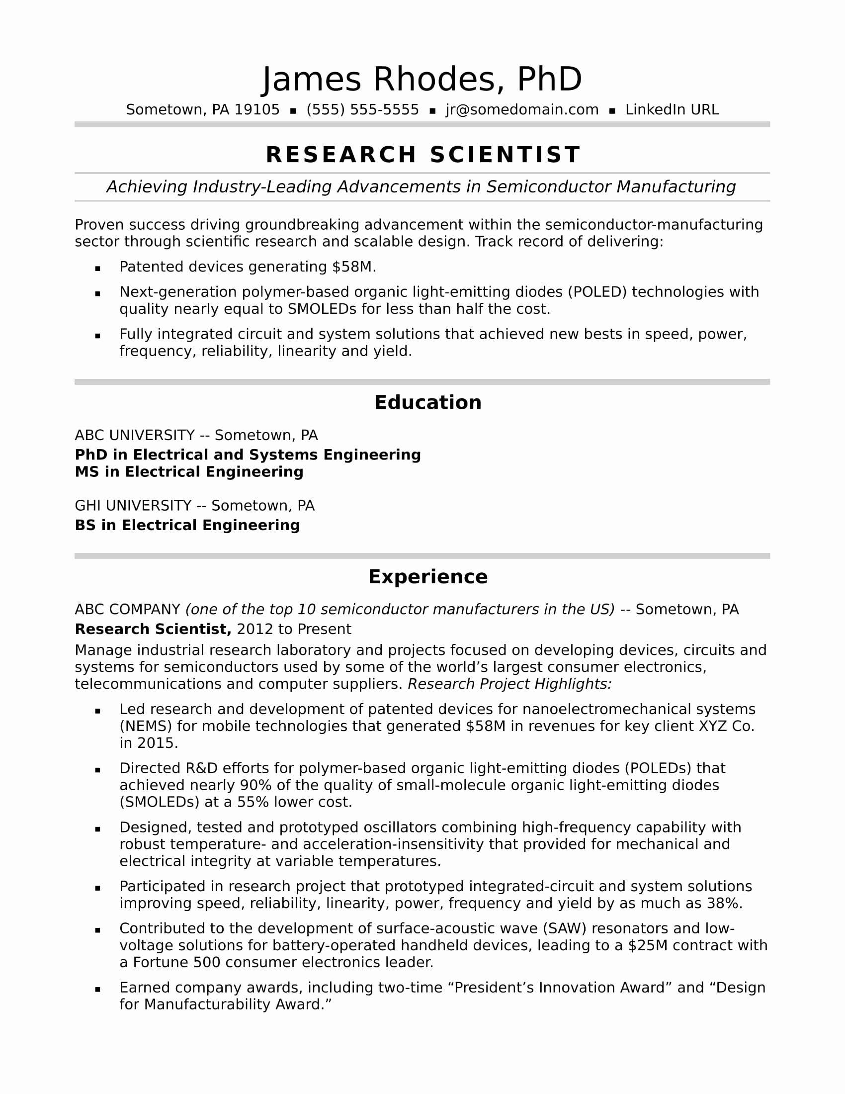 Data Scientist Resume Sample Lovely Entry Level