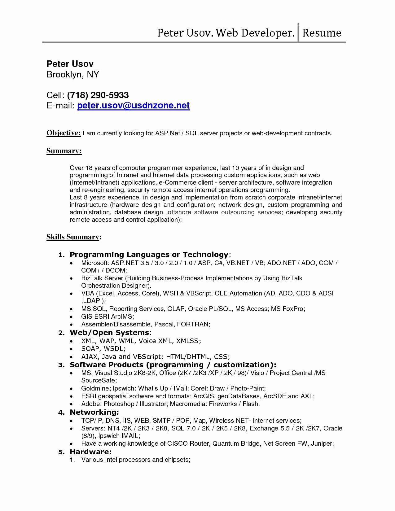 Database Administrator Resume Template