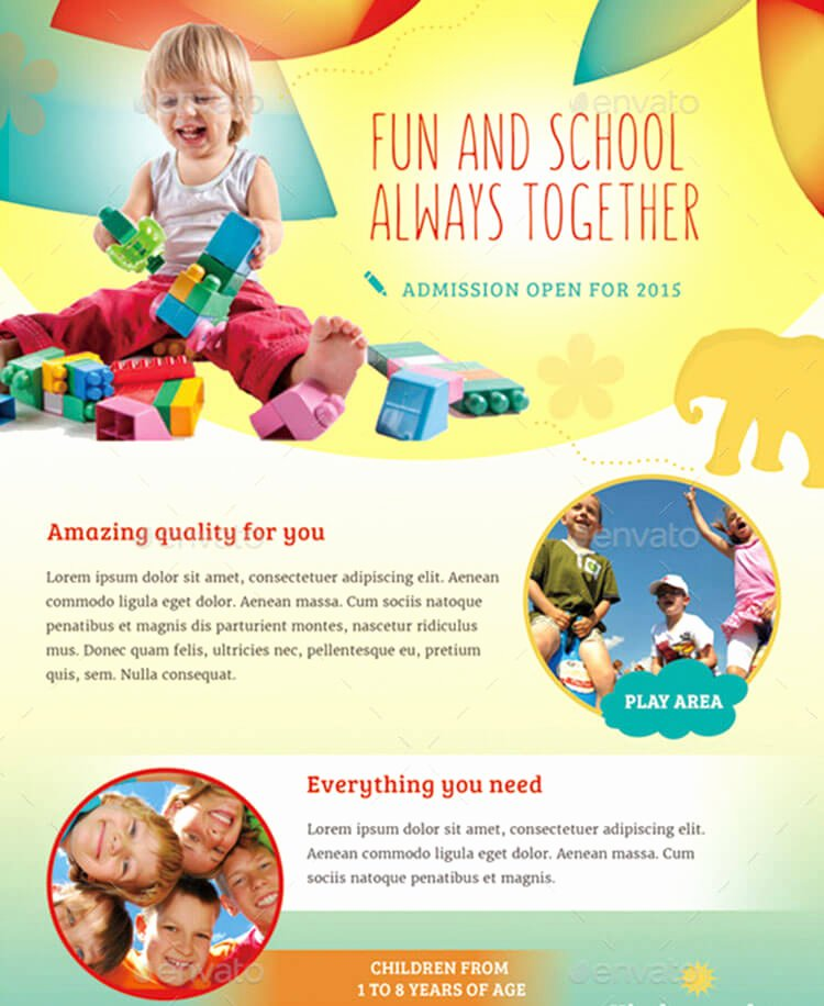 Daycare Brochure Templates