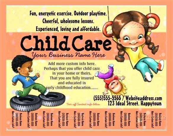Daycare Flyer Templates Free Child Care Flyer Templates