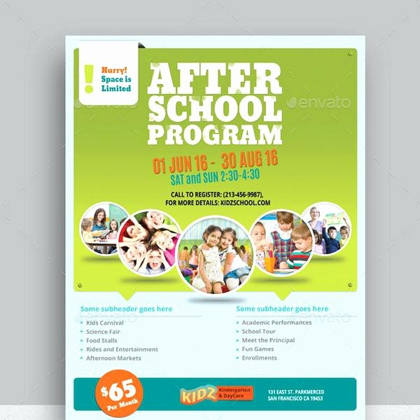 Daycare Flyer Templates Program Template Free Printabl On