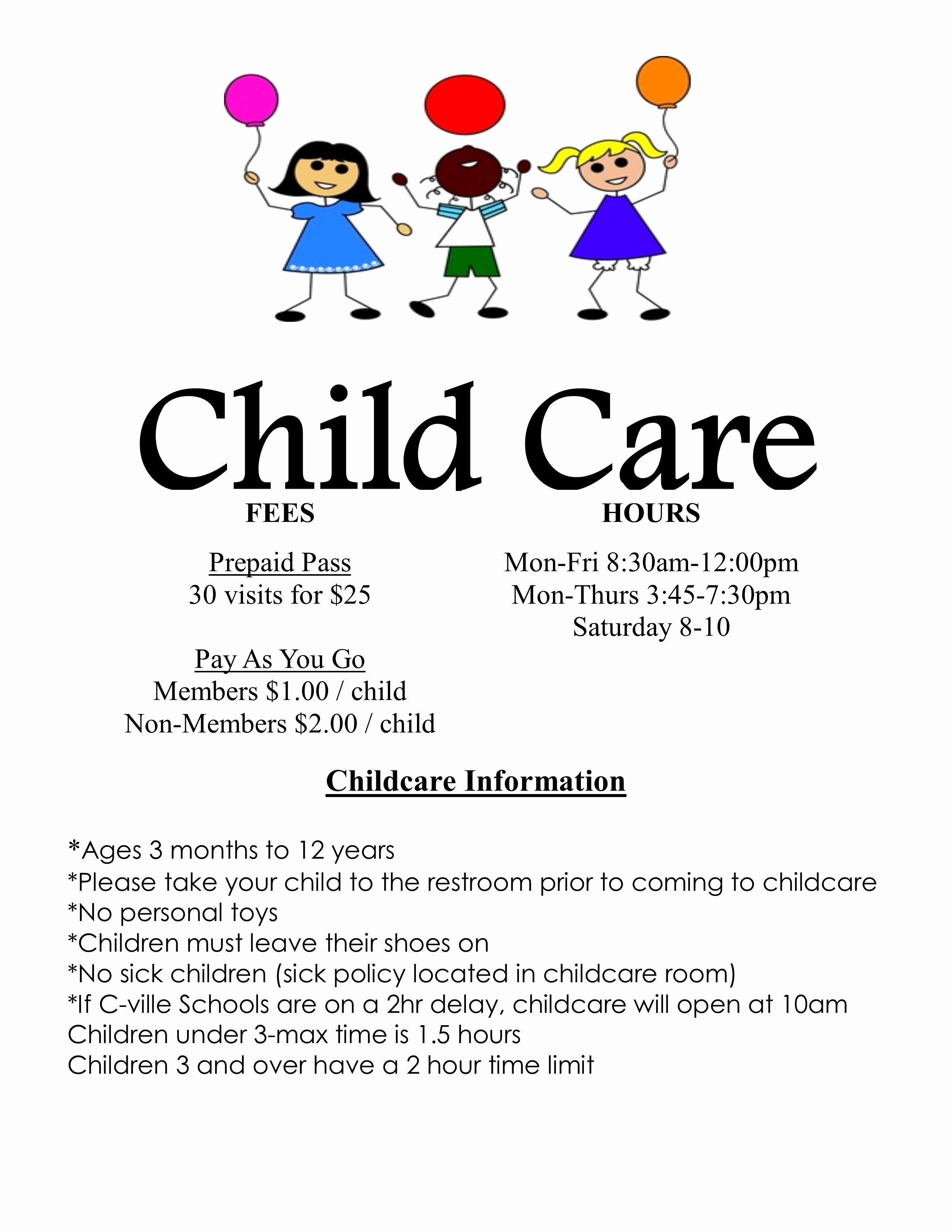 Daycare Flyers Examples