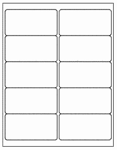 Dcc Generic White Self Adhesive Mailing Labels 2 X 4
